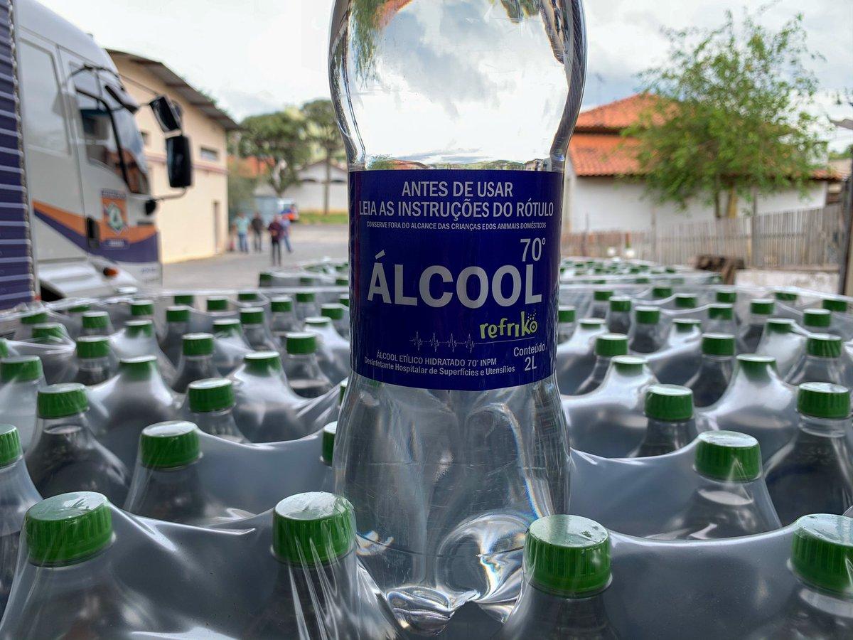 Refriko inicia produção de Álcool 70º para auxiliar no Combate da Pandemia.